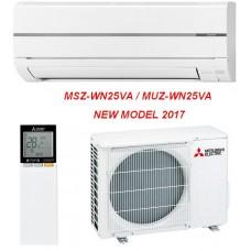 Инверторен климатик Mitsubishi Electric MSZ WN25VA/MUZ WN25VA, 9000BTU, Клас А++